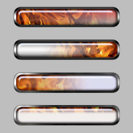 Abstract horizontal banner with fire for web or desktop photo