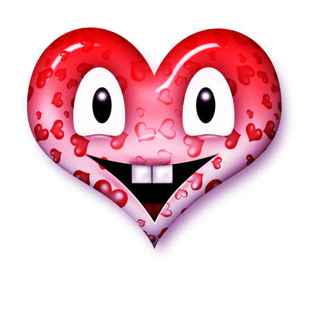smiley heart-shaped for web or letter photo