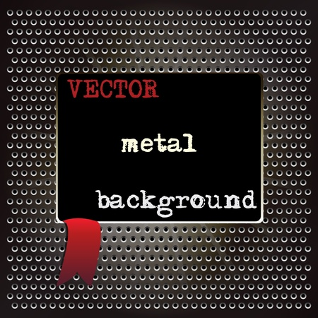 Metal background for your design Stock Vector - 9403704