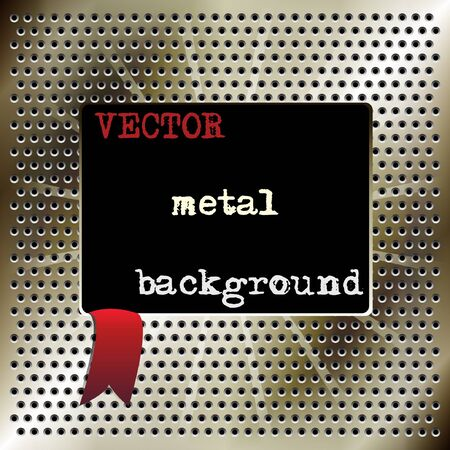 Metal background for your design  Vector