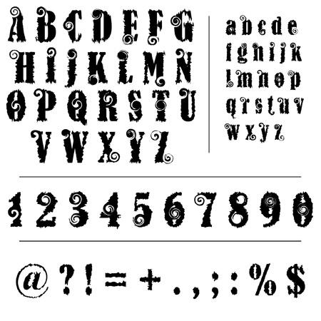 oude stijl lettertype