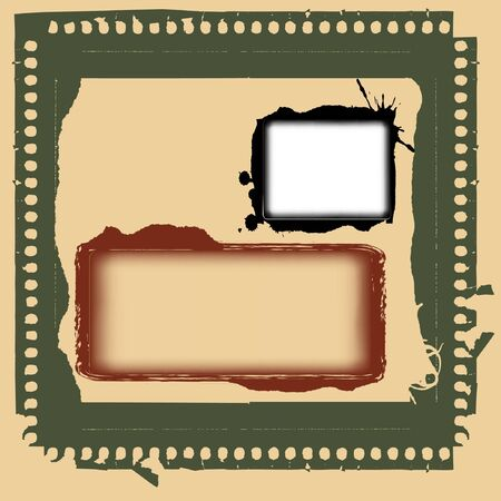 Vector grunge photo frames