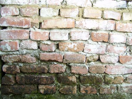 Aged red brick wall texture wallpaper background Stock Photo - 7560396