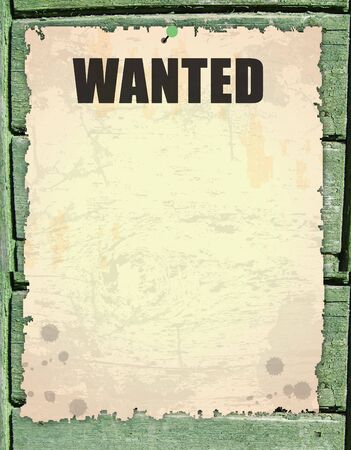 antique page - wanted - vintage wanted poster on wooden Stock Photo - 7560394