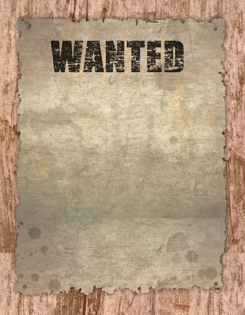 antique page - wanted - vintage wanted poster on wooden Stock Photo - 7560397