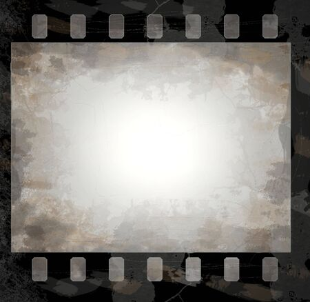 grunge film frame with space for your text or image photo