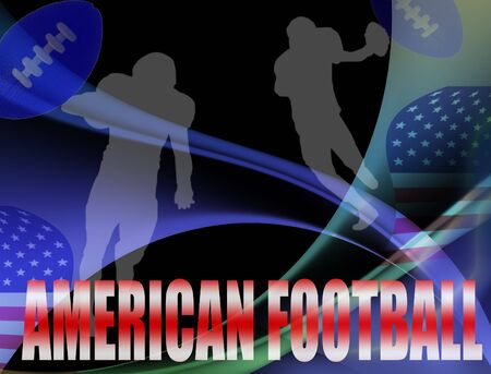 American football advertising poster.  colored illustration background illustration