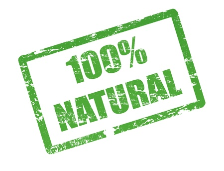 100% natural stamp Vector