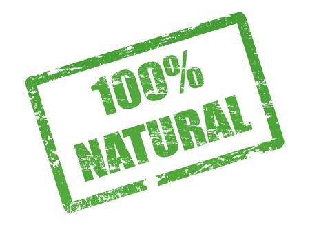 bio food: 100% natural stamp