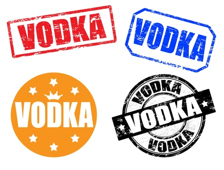 vodka: Set of vodka stamps Illustration