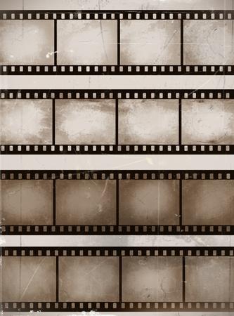 vintage krassen naadloze filmstroken of frame collectie Vector Illustratie