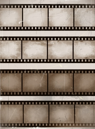 vintage scratched seamless film strips or frame collection Vector