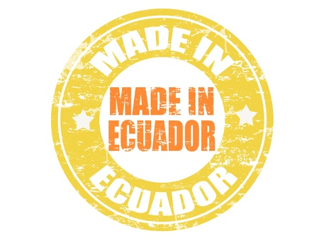office product: Made in Ecuador grunge rubber stamp Illustration