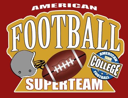 helmet football team: American football poster background, vector illustration Illustration