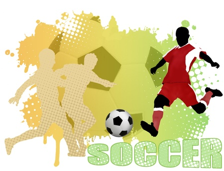 Soccer poster background, vector illustration Vector