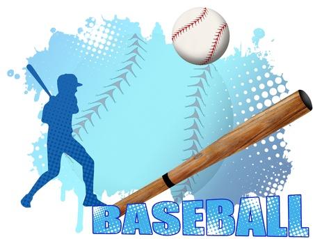 Baseball Poster Hintergrund, Vektor-Illustration