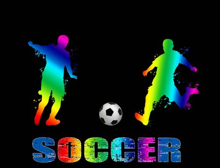 Soccer poster background, vector illustration Stock Vector - 11070986