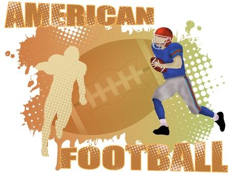 American football poster background, vector illustration Vector