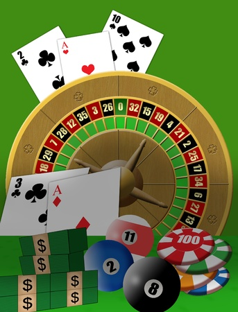 Vector illustration poster with casino theme Vector