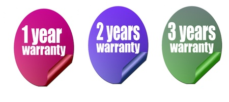 Vector illustration warranty stickers set Stock Vector - 11324139