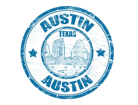 austin: Grunge Stempel mit Town Lake und dem Wort Austin, Texas, im Inneren, Vektor-Illustration