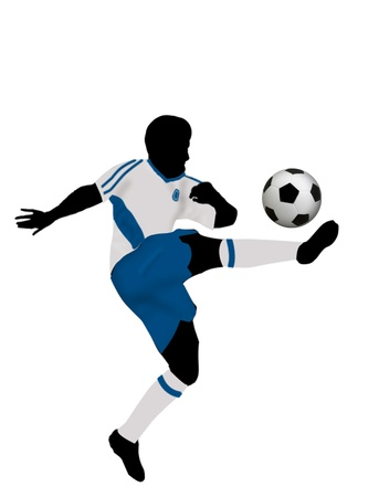 goalkeeper: Soccer player on white background. Colored illustration for designers