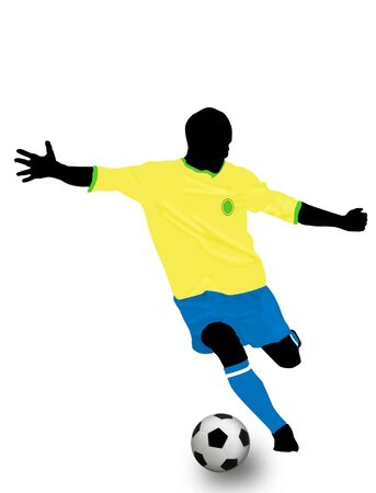 Soccer player on white. Colored illustration for designers Vector