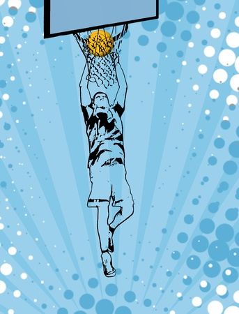sporting event: Basketball grunge poster background