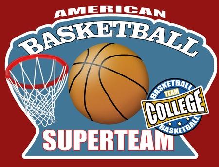 sport ecole: Fond d'affiche de basket-ball