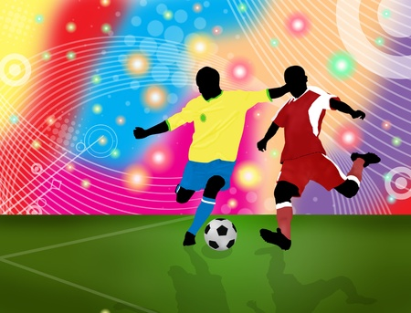 sporting activity: Action players poster background Illustration