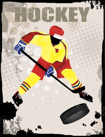 playoff: Action player, on grunge background