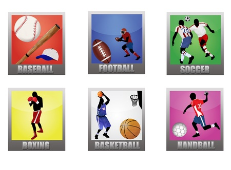 sporting: Set of a sport icons on white background, vector illustration Illustration