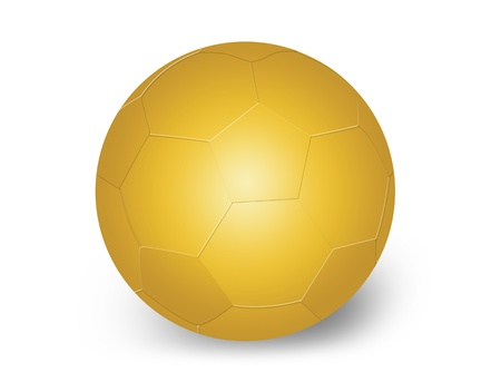 Golden soccer ball on white background, vector illustration Vector