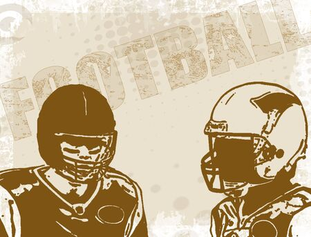 Brown american football poster background, vector illustration Vector