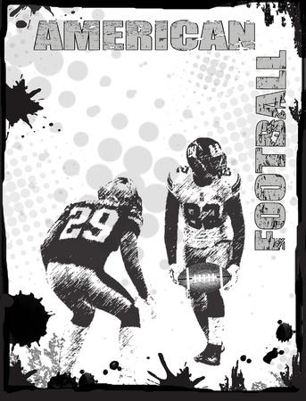 American football grunge poster background, vector illustration Vector