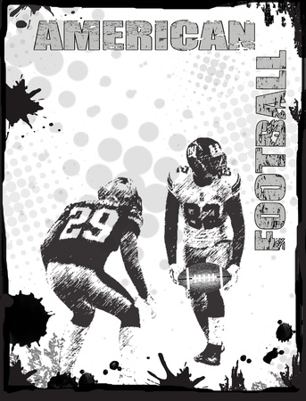 American football grunge poster background, vector illustration Vector