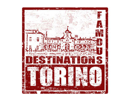 turin: Grunge rubber stamp with the word torino inside, vector illustration