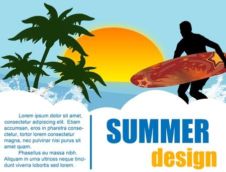 Summer holiday background design Vector