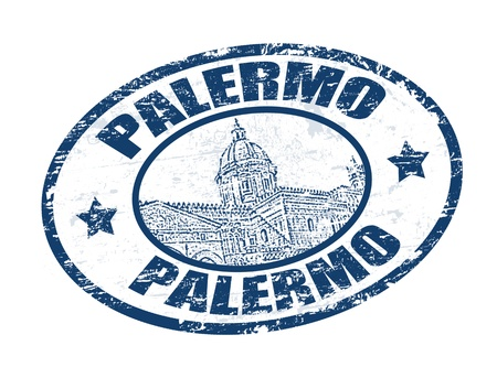 Grunge rubber stamp with Cathedral of Palermo shape and the word Palermo written inside Stock Vector - 12951304
