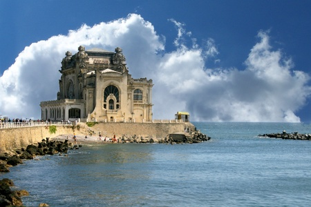 The Old casino in Constanta, Romania, on the Black Sea coast  Stock Photo