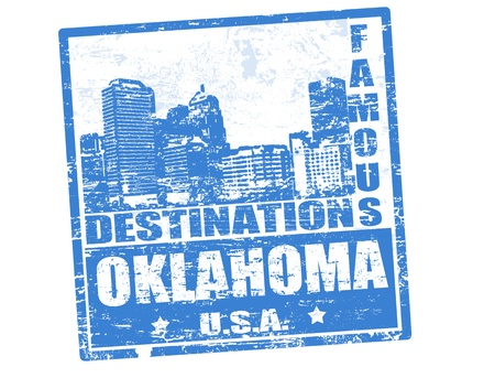 oklahoma: Grunge rubber stamp with the text famous destinations Oklahoma, vector illustration