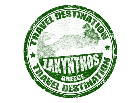 Grunge rubber stamp with the text travel destination Zakynthos inside, vector illustration Stock Vector - 13828756