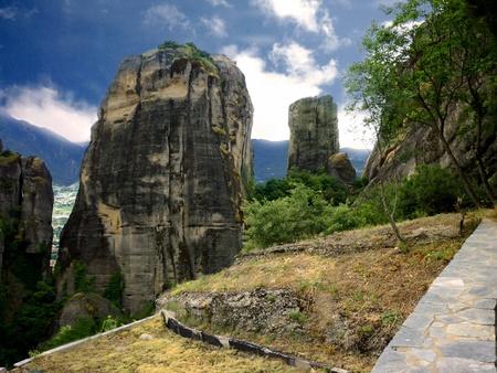 kalampaka: Rocks in Meteora, Greece