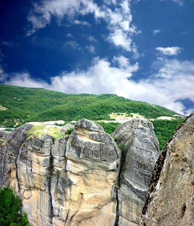 kalampaka: Huge rocks in the Meteora , Greece