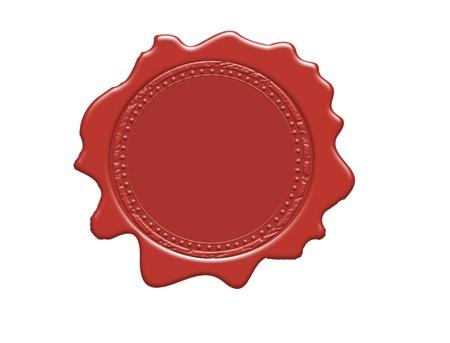 Wax seal with blank field, vector illustration Vector