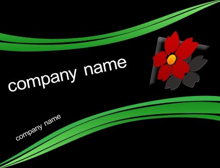 Company logo background on black