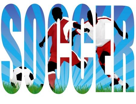 Soccer player Angriff Tor des Gegners Vektorgrafik