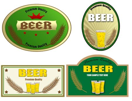 Beer labels design. Stock Vector - 13897249