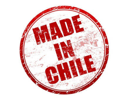 Made in Chile rubber stamp Stock Vector - 13936171