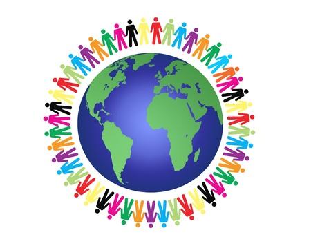 paz mundial: la paz en todo el mundo, ilustración vectorial